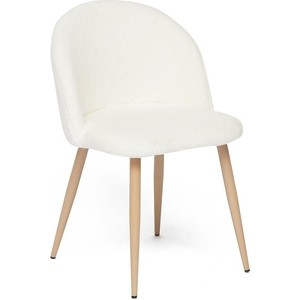 Стул TetChair MELODY (mod. 7003) ножки бук, сиденье и спинка белый плюш