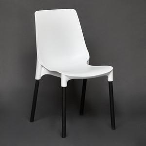 Стул TetChair GENIUS (mod 75) ножки черный, сиденье - белый