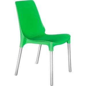 Стул TetChair GENIUS (mod 75) ножки серебристый, сиденье зеленый