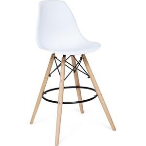 Стул TetChair Secret De Maison Cindy Bar Chair (mod. 80) ножки натуральный, перекладины черный, сиденье и спинка белый