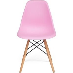 Стул TetChair Secret De Maison CINDY (EAMES) (mod. 001) дерево натуральный, металл черный, сиденье light pink