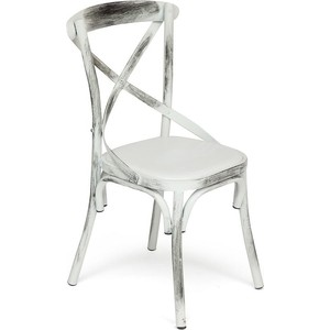 Стул TetChair Secret De Maison CROSS (mod.017) металл/сиденье экокожа, butter white vintage