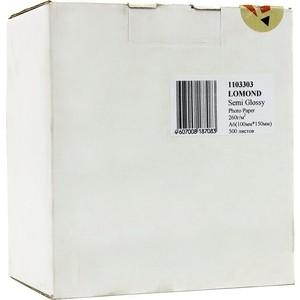 Бумага Lomond A6,10x15, 260г/м2, 500л.,полуглянцевая (1103303)