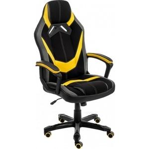 Кресло Woodville Bens черное/серое/желтое