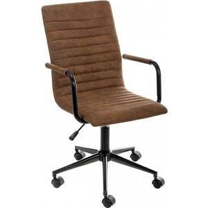 Кресло Woodville Midl arm коричневое