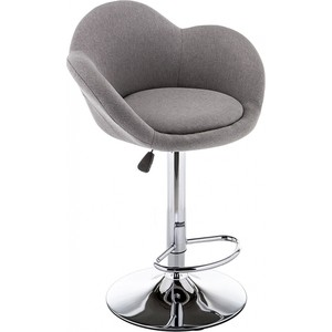 Барный стул Woodville Cotton серый