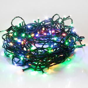 Светодиодная гирлянда Neon-Night Твинкл-Лайт 20 м, темно-зеленый ПВХ, 160 LED, мультиколор