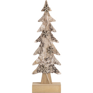 Деревянная фигурка с подсветкой Neon-Night Ель со снежинками 9,5*6*31 см