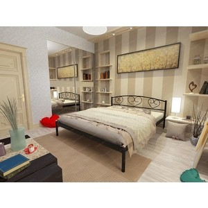Кровать Стиллмет Дарина серый металлик 160x200