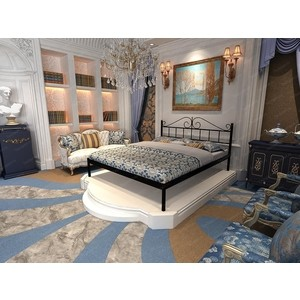Кровать Стиллмет Мариана серый металлик 160x200