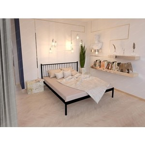 Кровать Стиллмет Колумбиа серый металлик 140x200