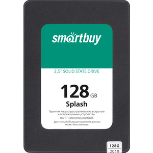 SSD накопитель SmartBuy 128Gb Splash SBSSD-128GT-MX902-25S3