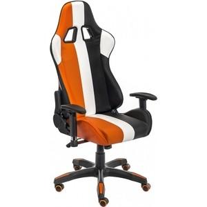 Компьютерное кресло Woodville Line белое/оранжевое/черное