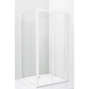 Душевой уголок Cezares Relax 80x80 прозрачный, белый (RELAX-AS-1-80-C-Bi-IV)