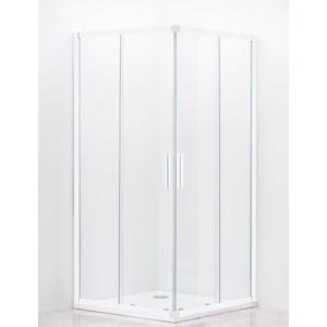 Душевой уголок Cezares Relax 90x90 прозрачный, белый (RELAX-A-2-90-C-Bi)