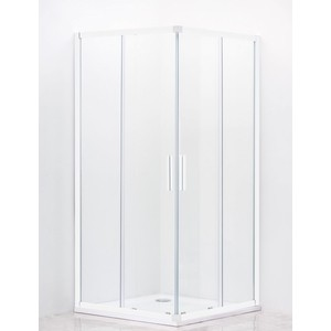 Душевой уголок Cezares Relax 80x80 прозрачный, белый (RELAX-A-2-80-C-Bi) фото