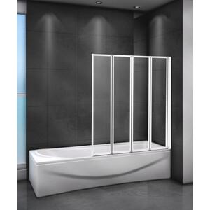 Шторка для ванной Cezares Relax 90x140 Punto, белая, правая (RELAX-V-4-90/140-P-Bi-R) цена и фото