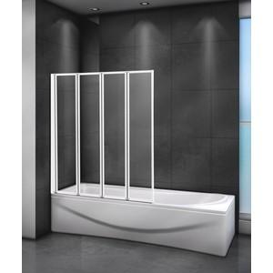 Шторка для ванной Cezares Relax 80x140 Punto, белая, левая (RELAX-V-4-80/140-P-Bi-L)