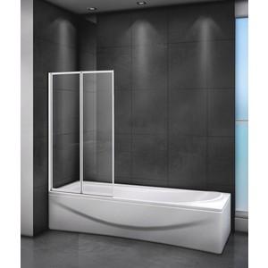 Шторка для ванной Cezares Relax 80x140 Punto, белая, левая (RELAX-V-2-80/140-P-Bi-L)