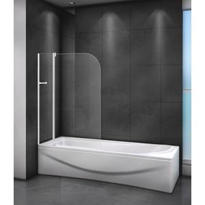 Шторка для ванной Cezares Relax 100x140 прозрачная, белая (RELAX-V-11-100/140-C-Bi)