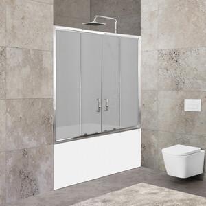 Шторка для ванной BelBagno Unique 180x140 Punto, хром (UNIQUE-VF-2-150/180-140-P-Cr)