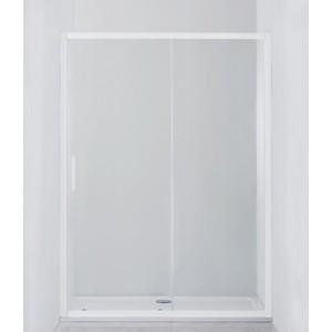 Душевая дверь Cezares Relax 140x185 прозрачная, белая (RELAX-BF-1-140-C-Bi)