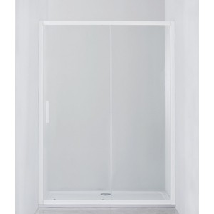 Душевая дверь Cezares Relax 120x185 прозрачная, белая (RELAX-BF-1-120-C-Bi)