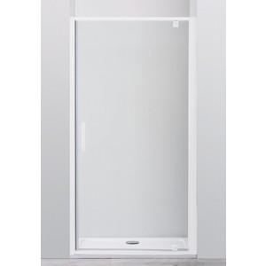 Душевая дверь Cezares Relax 80x185 прозрачная, белая (RELAX-BA-1-80-C-Bi)