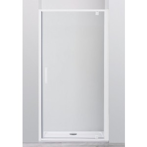 Душевая дверь Cezares Relax 100x185 прозрачная, белая (RELAX-BA-1-100-C-Bi)