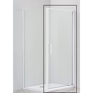 цена Душевая дверь Cezares Relax 80x185 Punto, белая, левая (RELAX-80-P-Bi-L)