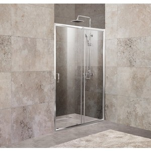 Душевая дверь BelBagno Unique 190x135 Punto, хром, (UNIQUE-BF-1-120/135-P-Cr)