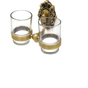 Держатель со стаканами Milacio Valls бронза, двойной (MC.923.BR)