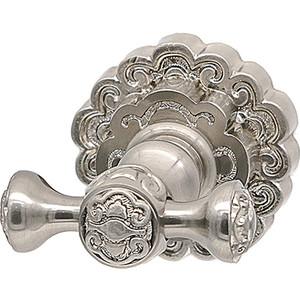 Крючок для полотенца Milacio Villena серебро, двойной (MC.902.SL)