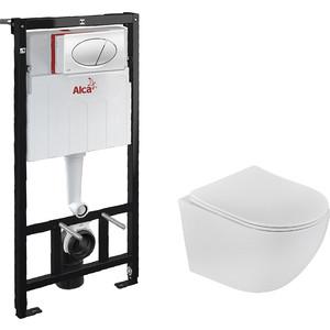 Комплект Teka Manacor rimless с сиденьем микролифт, исталляция, кнопка (Set3v1+117320002)