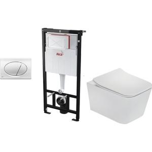 Комплект Teka Formentera rimless с сиденьем микролифт, исталляция, кнопка (Set3v1+117320000)