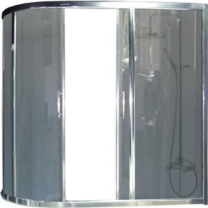 Шторка для ванной Royal Bath Alpine 150x150 серая, белая (RB150AZUR-G)