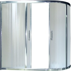 Шторка для ванной Royal Bath Alpine 150x150 матовая, белая (RB150AZUR-C)