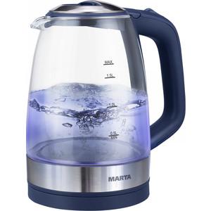 Чайник электрический Marta MT-1078 синий сапфир цена и фото
