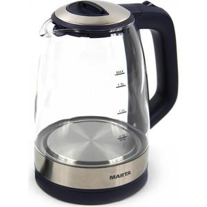 Чайник электрический Marta MT-1078 темный топаз цена и фото