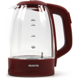 Чайник электрический Marta MT-1099 бордовый гранат