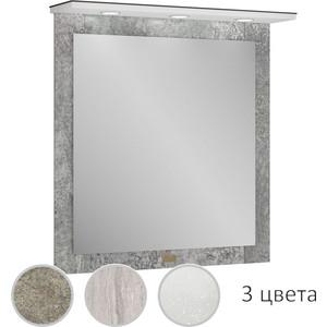 Зеркало Edelform Сириус 75 индустриальный бетон, с подсветкой (36495)