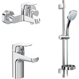 Комплект смесителей Ideal Standard Ceraflex для раковины, ванны, душевой гарнитур (B2189AA)