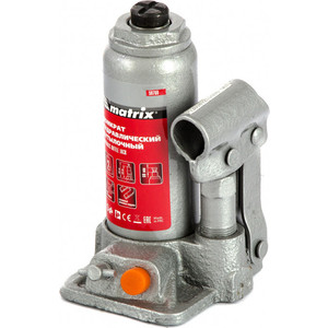 Домкрат гидравлический бутылочный Matrix 2т 158-308мм (50760)