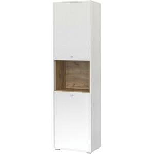 Шкаф комбинированный Моби Бэль 10.04 дуб крафт золотой/белый премиум
