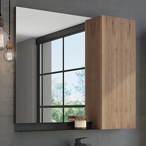 Зеркальный шкаф Comforty Кёльн 88 дуб темный (4147987)