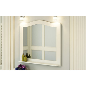 Зеркало Comforty Монако 100 белый глянец (4136986)