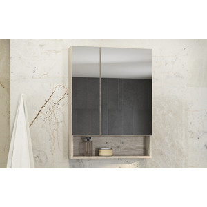Зеркальный шкаф Comforty Парма 60 дуб дымчатый (4143488)