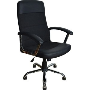 Кресло Стимул-групп СТИ-Кр58 ТГ хром С11 ткань черная/эко 1 экокожа черная