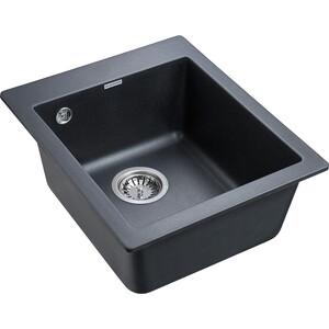 Кухонная мойка Paulmark Leer черный металлик (PM104249-BLM)