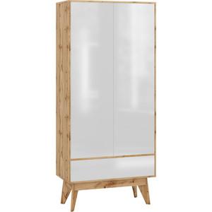 Шкаф 2-х дверный Принцесса Мелания Хелен 2213.М1 белый лак